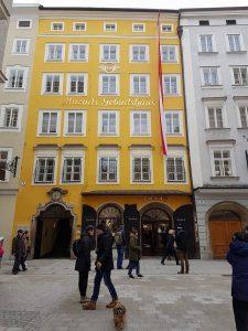 родната къща на Моцарт в Залцбург